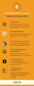 Käännöspalvelun tilaajan tarkistuslista